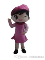 airlines picture - SX0727 real picture a beautiful airline stewardess mascot costume with pink dress for adult to wear