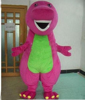 Wholesale 2016 new Profession Barney Dinosaur Mascot Costumes Halloween Cartoon Adult Size Fancy Dress
