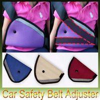 Wholesale Auto Care Triangle Child Car Safety Belt Adjuster Child Resistant Safety Belt Protector Shave Kids Baby Car Safety Belt colors