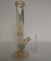 band tubes - Band pattern glass bong quot Medio Straight Tube glass bongs glass smoking pipe water pipes mm joint bong