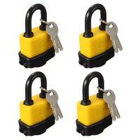 Wholesale 4X Waterproof Padlock Keyed Alike Laminated Master Locks Gate Door Padlock with Keys
