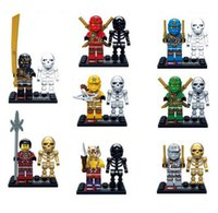 Wholesale Minifigures phantom Ninja man Aberdeen Sets dolls toy building blocks assembled connection Model Figure Toys For Children
