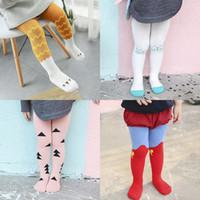 Wholesale Baby girls leggings tights trousers pants kids cotton stockings cartoon animal long knee socks children spring autumn christmas clothes