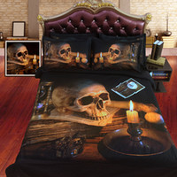 Cheap New latest Retro Skull design 3d HD printed Bedding Set