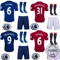 Wholesale 2016 new Manchester jersey POGBA Ibrahimovic ROONEY Shirts cheap Thai Quality united soccer uniforms kit