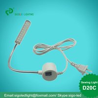 Wholesale D20C W led sewing machine lamp industrial sewing light AC110V220V380V Flexible Light for sewing