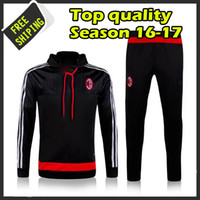 ac running - New arrived AC milan training suits Italy running suits man tracksuits colors Sportswear Italy jackets and pants