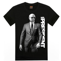 Wholesale Fashion Men s Tee Shirt Homme Black Putin Suit Pattern Men s T Shirt O Neck President Letter T Shirt for Male Plus Size XXL PA284