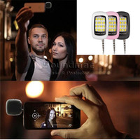 Wholesale Flash Selfie LED Light for Cell Phone Smartphone Built in led Light Iblazr for Camera Phone Support Multiple Photography Mini Selfie Sync