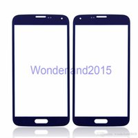Wholesale 100 front outer screen glass lens for SAMSUNG Galaxy S5 i9600 G900f G900s glass to repair LCD