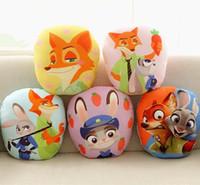 Wholesale 32x30CM D Printing Plush Zootopia Dolls Stuffed Cushion Pillow Animal Plush Toys Home Decoration Boys Girls Favor Gift