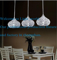 Wholesale Modern Chandeliers LED Crystal Ball Pendant Lamp K9 Crystal Ceiling Light Crystal Stair Light Drop Light Chandelier Lights Hanging Light