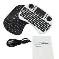 Wholesale 2 G Mini Wireless Keyboard With Lithium Battery Handheld Keyboard For PC Android TV Media Control Raspberry i8 Keyboard