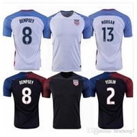 Wholesale 2016 united states soccer jersey DISKERUD MORGAN LLOYD ALTIDORE BRADLEY WAMBACH black football shirts best quality