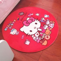 baby table chairs - Diameter cm Hello Kitty Chair Table Mat Baby Room Play Rugs Yoga Mat