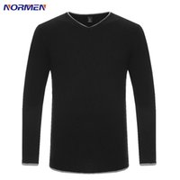 Wholesale Men s Casual Solid Sweater New Brand Clothing V Neck Pullovers Men pull homme agasalho masculino Outerwear Streetwear