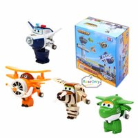 airplane baby gifts - Super Wings Mini Airplane Robot Mira Paul Bello baby toys Action Figures Super Wing Transformation Animation for Children Gift