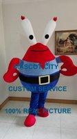 Wholesale Spongebob Squarepants Mascot Costumes - SpongeBob SquarePants crab boss mascot costume cosply cartoon character fancy dress animen kits mascotte carnival costume 40604