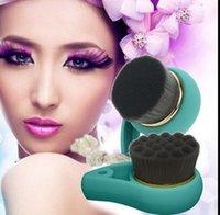bamboo cleansers - Bamboo Facial Care Cleansing Brush soft Hair Face Charcoal Brushes Pore Cleanser Cepillo Limpiador Facial Pore Facial Care design KKA239