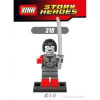 best katana - XH Building Blocks Super Heroes Avengers katana Minifigures Star Wars Single Action Model Minifigures Kids Blocks Mini Figures Best Toys