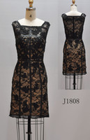 Wholesale RETAIL JVN collection Fall Winter PROM dresses nice lace and heavy beading black short dress