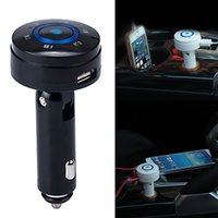 Wholesale 2016 Wireless Bluetooth FM Transmitter FM Modulator Car Kit MP3 Player SD USB LCD Car Charger for Samsung Galaxy S4 S3
