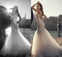 Wholesale Illusion Mermaid A j Beach Wedding Dresses Backless Spaghetti Applique Tulle Bridal Dresses Vintage Cheap Wedding Gowns