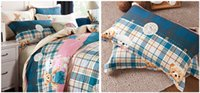 bear comforter set - 100 pure cotton Fashion home textile twill TC Bedding set Bedclothes Duvet cover bed Comforter sheet lovely bears S105