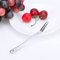 Wholesale meat forks fruit forks Stainless steel Meat Poultry Tools pasta moon cake bidentate forks Kitchen Tools Z