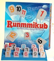 Wholesale new fun rummikub board game family party travel set rummy educational toy the fast moving rummy tile game toys