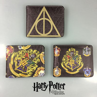 Wholesale Harry Potter Gryffindor Wallets Badges Feature Purse Leather Card Bags Cartoon Wallet inch