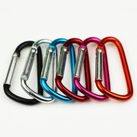 Wholesale Carabiner Ring Keyrings Key Chains Outdoor Sports Camp Snap Clip Hook Keychain Hiking Aluminum Metal Convenient Hiking Camping Clip On