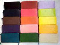 Wholesale luxury brand leather long wallet Card holder Fashion top quality original box coin purse women man classic zipper pocket