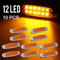 diablo - 10pc quot LED Marker Clearance Light LED Pigtail Connector Amber Trailer Light