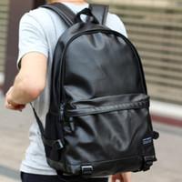 Wholesale 2017 Designer Mens Backpacks High Quality PU Leather Laptop Runsack School Bag Classical Black Drop Shipping