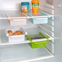 plastic storage shelf drawers - Plastic Kitchen Refrigerator Storage Rack Fridge Freezer Shelf Holder Pull out Drawer Organiser Space saver