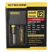 Wholesale Hot New Intellicharger i2 Nitecore Universal Battery Charger With EU Plug For CR123A Ni MH AA AAA C Battery