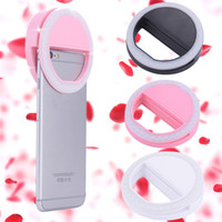Wholesale Portable Fashion Mode Adjustable Brief Selfie LED Ring Flash Light Camera Photography For iPhone Xiaomi Huawei Mobile Phone