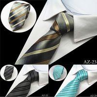ascot tie for sale - New Design cm Jacquard Woven Silk Tie For Men Striped Neckties Man s Neck Tie For Wedding Business Party Factory Sale