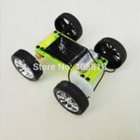 Wholesale 10 sets Green Model miniature of delight mini solar car diy for production technology teenage enlightenment toy