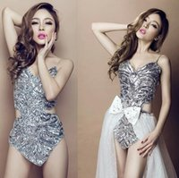 Wholesale Club DS sequins sexy stage performance clothing pole dance female temperament and clothes mujer vestidos baile dedance clothing
