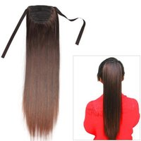 Wholesale Dark Brown Ponytail Wig Hairpiece Synthetic Hair Long