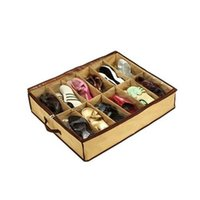 Wholesale Shoe Storage Boxes Shoe Pouch Closet Organizer Under Bed Storage Holder Box Container Case Storer For Shoes