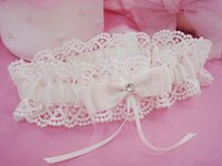 Wholesale 2016 Beige Bridal Garters Lates Style Sexy Wedding Accessories Wedding Bridal Garters Lace with Bow Wedding Accessories Cheap