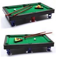 baseball desktop - MINI POOL TABLE Flocking desktop simulation billiards billiards table sets children s play sports balls Sports Toys