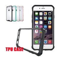 air dirt - For Iphone Case Note Case TPU Transparent Air Hybrid Case Soft TPU PC Back Cover Case For Iphone S DHL SCA198