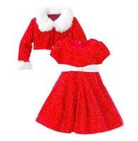 baby blenders - Baby Girls Christmas Cotton Blender Outfits Red Christmas Dresses with Long Sleeve Coat For T baby girls
