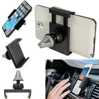 Wholesale Universal Car Air Vent Phone Holder For Iphone Plus For Samsung S5 S6 Mobile Phone Holder GPS Stand Holder Convenient and practical