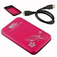 Wholesale USB quot Portable SATA HDD Hard Disk Drive External Enclosure Case Box Red EL5004