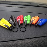Wholesale Mini Safety Hammer Auto Car Window Glass Breaker Seat Belt Cutter Rescue Hammer Car Life saving Escape Tool